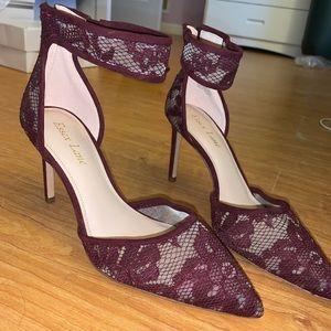 New! Essex Lane burgundy stilettos size 7 1/2M/38
